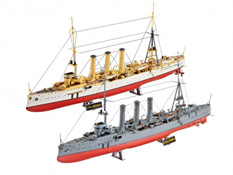 Croiseurs allemand WWI SMS Dresde et SMS Emden - Revell 05500