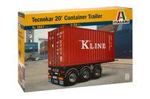 Maquette camion : Tecnokar 20' Container Trailer - 1/24 - Italeri 3887