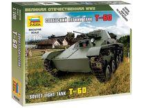 Maquette militaire : Char Léger Soviétique T‐60 - 1/100 - Zvezda 6258