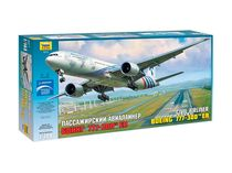 Maquette d'avion civil : Boeing 777‐300ER - 1/144 - Zvezda 7012