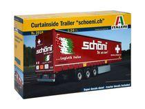 Maquette camion : Semi‐Remorque à rideaux Schöni - 1/24 - Italeri 3918