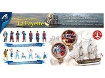 14 figurines pour l'Hermione, La Fayette voilier en bois - Artesania Latina 22517F