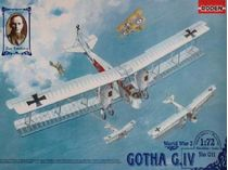 Maquette avion militaire : Bombardier Gotha G.II/G.III - 1:72 - Roden 002