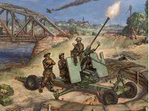 Maquette artillerie : Canon Bofors 40mm - 1/72 - Zvezda 6170
