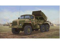Maquette véhicule militaire : Camion lance-roquettes soviétique BM-21 Hail MRL A1 - 1:35 - Trumpeter 01014