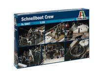 Figurines militaires : Équipage Schnellboot S100 - 1/35 - Italeri 05607