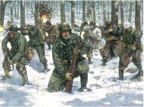 Figurines militaires : Infanterie US Tenue Hivernale - 1/72 - Italeri 06133