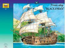 Maquette de voilier : Bateau pirate Black Swan - 1/72 - Zvezda 9031