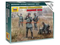 Figurines militaires : État-Major allemand 1939-1942 - 1/72 - Zvezda 6133