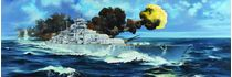 Maquette de navire de guerre :  USS Intrepid CV-11 1969 - 1:350 - Trumpeter 64008