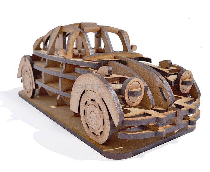 maquette en bois volkswagen coccinelle. Black Bedroom Furniture Sets. Home Design Ideas