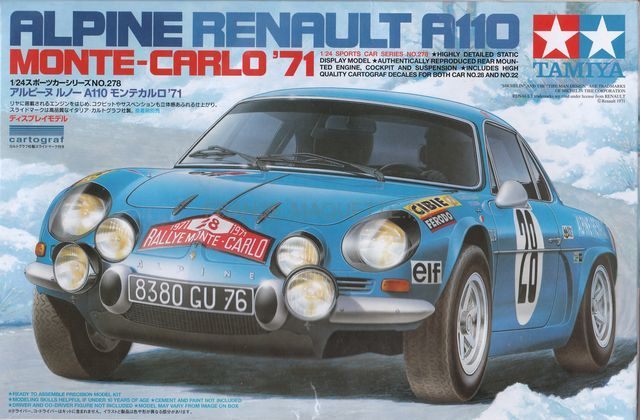 maquette voiture tamiya alpine renault a110. Black Bedroom Furniture Sets. Home Design Ideas