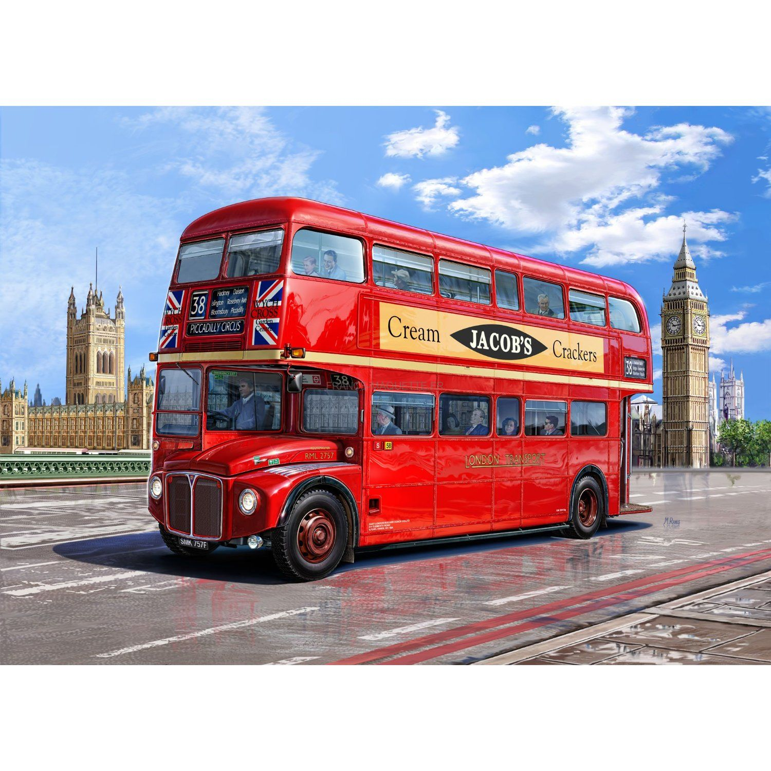 revell london bus 07651. Black Bedroom Furniture Sets. Home Design Ideas