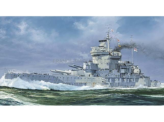 maquette de navire de guerre hms warspite cuirass royal navy 1942 1 700 trumpeter 05795. Black Bedroom Furniture Sets. Home Design Ideas
