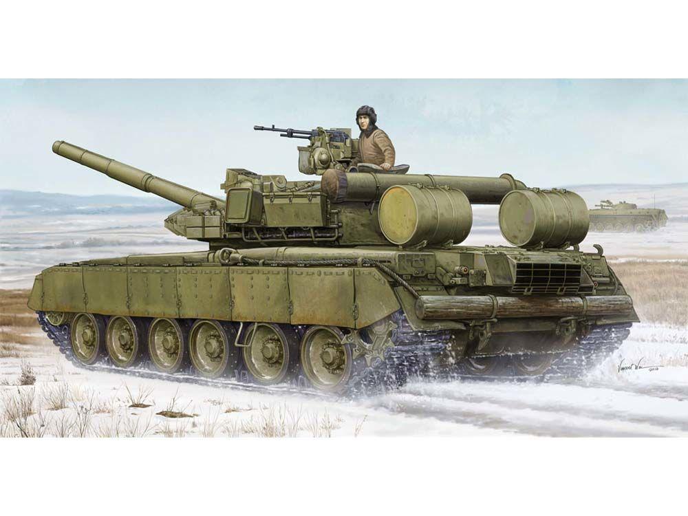 Comparez les frais de livraison !                                                        Maquette Char moyen soviétique T-80BVD - Trumpeter 05581