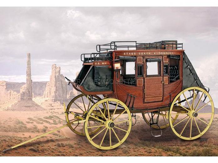 Maquette en bois diligence 1848 39 stage coach for Garage de la diligence taverny
