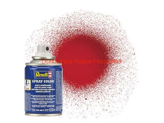 Peinture pour maquette acrylique en bombe rouge - Bombe peinture bois ...