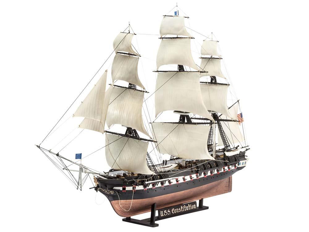 maquette de voilier u s s constitution 1 146 revell 05472. Black Bedroom Furniture Sets. Home Design Ideas