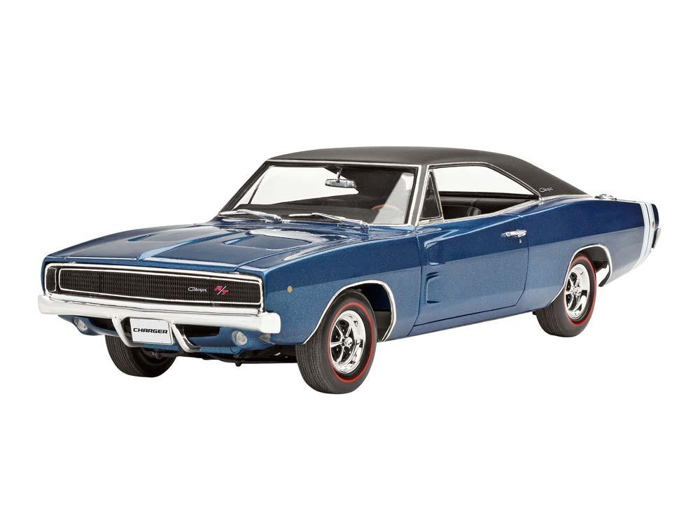 maquette de voiture model set 1968 dodge charger r t 1 25 revell 67188. Black Bedroom Furniture Sets. Home Design Ideas