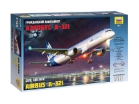 Maquette d'avion civil : Airbus А-321 - 1/144 - Zvezda 7017