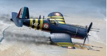Maquette d'avion : F4 U-7 CORSAIR