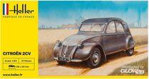 Maquette voiture de collection : Citroën 2cv - 1/43 - Heller 56175