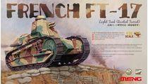 Maquette blindé : Char léger français FT-17 (tourelle rivetée) 1917 - 1:35 - Meng TS011
