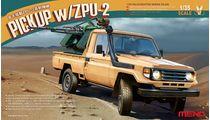 """Maquette véhicule militaire : Pick-up Toyota """"Hilux"""" avec canon AA ZU-23-2 - 1:35 - Meng VS005"""