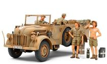 Figurines militaires : Steyr 1500A et soldats Afrika corps - 1/35 - Tamiya 35305
