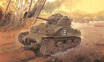 Maquette char d'assaut : M4 Sherman Composite Hull PTO - 1/35 - Dragon 06740 6740
