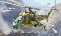 Maquette d'hélicoptère militaire : Mil Mi-24V/VP - 1/48 - Zvezda 04823 4823 - france-maquette.fr
