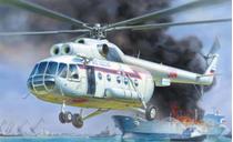Maquette hélicoptère : Mil Mi‐8 Sauvetage- 1/72 - Zvezda 7254 07254 - france-maquette.fr
