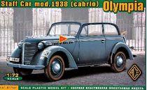Maquette militaire : Olympia (Cabriolet) véhicule d'état major - 1938 - 1/72 - ACE 72507