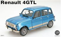 Maquette voiture de collections : Renault 4 GTL - 1/24 - Ebbro 25011 - france-maquette.fr