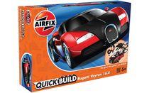 Quick Build - Maquette voiture de sport : Bugatti Veyron Black & Red - Airfix J6020