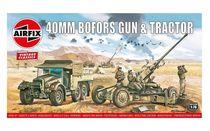Maquette de véhicule militaire : Bofors Gun & Tractor - 1:76 - Airfix 02314V
