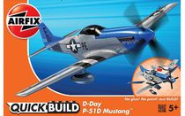 Quick Build - Maquette avion militaire : D-Day P-51D Mustang - Airfix J6046