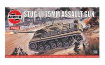 Maquette de véhicule militaire : Vintage Classics - Stug III 75mm Assault Gun - 1:76 - Airfix 01306 1306 - France-Maquette.fr