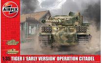 Maquette de véhicule militaire : Tiger 1 Early version - Opération citadel - 1:35 - Airfix 01354 1354