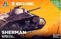 Maquette militaire : World of Tanks - Sherman - 1:35 - Italeri 34101