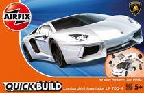 Quick Build - Maquette voiture de sport : Lamborghini Aventador White - Airfix J6019