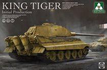Maquette véhicule militaire : Char lourd SdkFZ, 182 King Tiger - Initial production 4 in 1 - 1/35 - Takom 02096