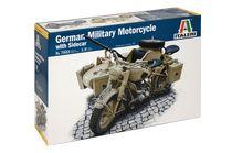 Maquette militaire : BMW R75 Sidecar - 1:9 - Italeri 07403