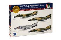 Maquette avion militaire : F-4 C/D/J Phantom II ACES USAF-US Navy Vietnam ACES - 1/72 - Italeri 01373