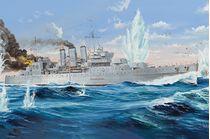 Maquette de navire de guerre : HMS Cornwall - 1:350 - Trumpeter 755353