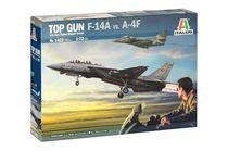 "Maquette avion militaire : ""Top Gun"" F-14A vs A-4F - 1/72 - Italeri 01422"