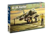 Maquette avion militaire américain : AV-8A Harrier - 1/72 - Italeri 01410 1410