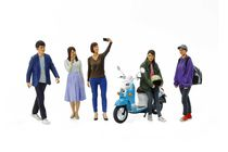 Personnages miniatures : Groupe d'amis du campus - 1/24 - Tamiya 24356