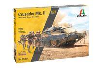 Maquette militaire : Crusader Mk.II et Infanterie Britannique - 1/35 - Italeri 6579 06579