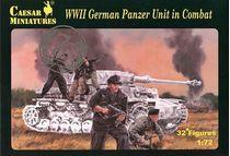 Figurines militaires : Equipage de panzer allemand au combat - 1:72 - Caesar HB085